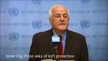 New Duck ICP Asks Palestines Mansour of Intl Protection He Says Israel Violates 4th Geneva Cites R2P