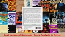 Read  Environmental Sociology From Analysis to Action Ebook Free