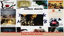 Read  Miles Davis Jazz Piano Solo Series Volume 1 Jazz Piano Solos Series Ebook Free