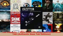 Download  Led Zeppelin  Bass TAB Anthology Authentic Bass TAB Authentic Bass Tab Editions Ebook Free