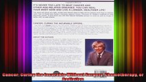 Cancer Curing the Incurable Without Surgery Chemotherapy or Radiation
