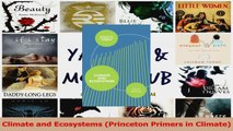 Download  Climate and Ecosystems Princeton Primers in Climate Ebook Free