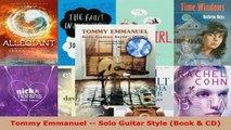 Read  Tommy Emmanuel  Solo Guitar Style Book  CD PDF Online