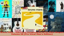 Download  Bruno Mars  Pro Vocal Songbook  Cd for Male Singers Volume 58 Pro Vocal Mens Edition PDF Online