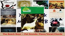 Download  The Beach Boys  Pet Sounds PianoVocalChords PDF Free
