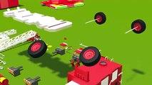 Fire trucks for children kids. Fire trucks responding. Construction game. Cartoons for children