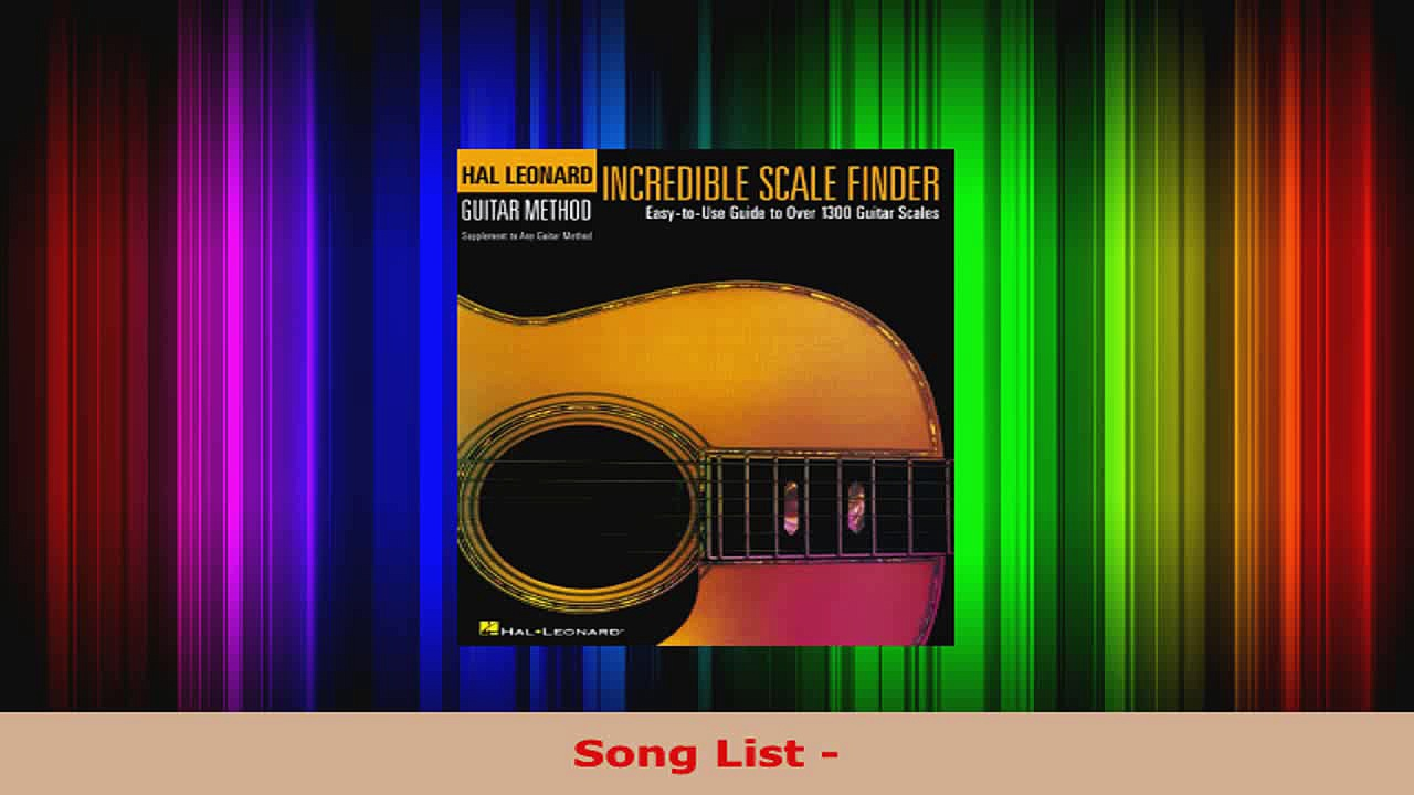 Read  Incredible Scale Finder A Guide to Over 1300 Guitar Scales 9 x 12 Ed Hal Leonard Guitar EBooks Online