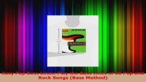 Read  Easy Pop Bass Lines Play the Bass Lines of 20 Pop and Rock Songs Bass Method PDF Free