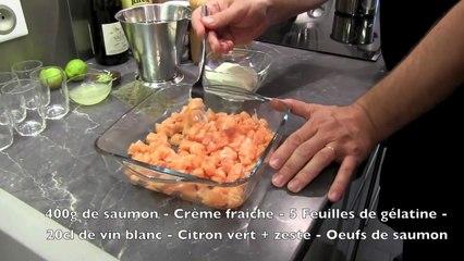 Recette : Verrine de Saumon au Citron vert