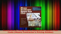 Download Contractors Pricing Guide: Residential Square Foot Costs