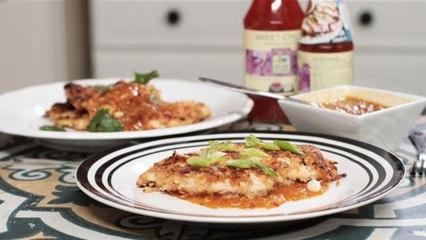 Oriental Style Chicken Schnitzels with Sweet Chilli Onion Gravy