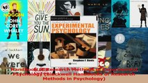 Read  Handbook of Research Methods in Experimental Psychology Blackwell Handbooks of Research Ebook Free