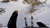 Tarihin En Çılgın Kayak Hattında Delice Kayak Yapan Adam
