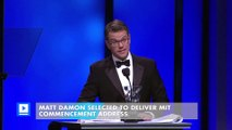 Matt Damon selected to deliver MIT commencement address