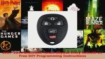 HOT SALE  20072014 Chevrolet Tahoe Keyless Entry Remote w Free DIY Programming Instructions
