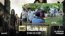 The Walking Dead Season 6 6x01 Greeting From Set - Entrevistas Al Cast - Subtitulos Español