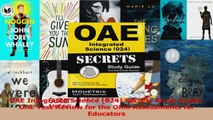 OAE Integrated Science 024 Secrets Study Guide OAE Test Review for the Ohio Assessments PDF