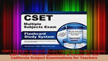 CSET Multiple Subjects Exam Flashcard Study System CSET Test Practice Questions  Review PDF