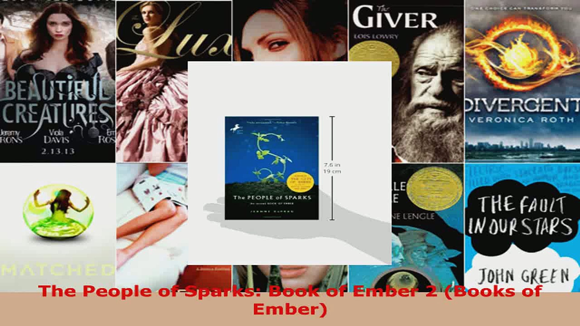 Read  The People of Sparks Book of Ember 2 Books of Ember PDF Free