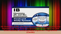 IB Chemistry SL and HL Examination Flashcard Study System IB Test Practice Questions  PDF