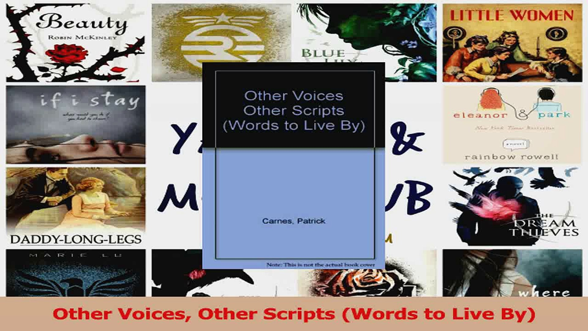 PDF Download  Other Voices Other Scripts Words to Live By PDF Online