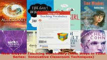 Download  New Ways in Teaching Vocabulary New Ways in Tesol Series  Innovative Classroom EBooks Online