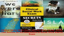 Clinical Social Work Exam Secrets Study Guide ASWB Test Review for the Association of Download
