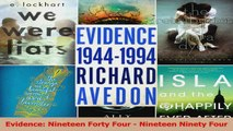 Download  Evidence Nineteen Forty Four  Nineteen Ninety Four PDF Online