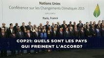 COP21: Quels sont les pays qui freinent l'accord?