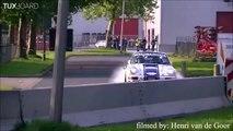 Accident de voiture énorme : une Porsche fait une sortie de route dans un virage