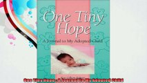 One Tiny Hope  A Journal To My Adopted Child