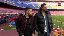 Jordi Alba y Antonio Orozco, encuentro en el Camp Nou