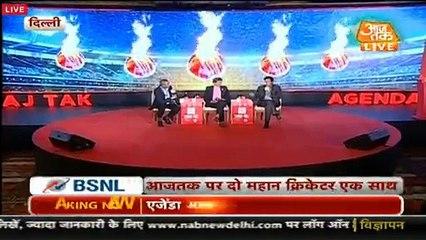 Imran Khan Praising Kapil Dev in Aaj Tak (India) TV Show