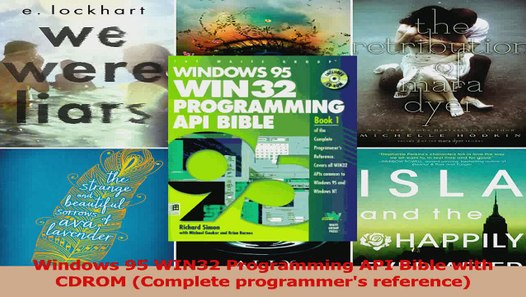 Download Windows 95 WIN32 Programming API Bible with CDROM Complete  programmers reference PDF Free