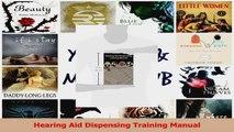 PDF Download  Hearing Aid Dispensing Training Manual PDF Online