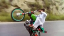 one wheeling of bike amaizing wheeling