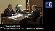 Vladimir Poutine se moque-t-il de François Hollande ?