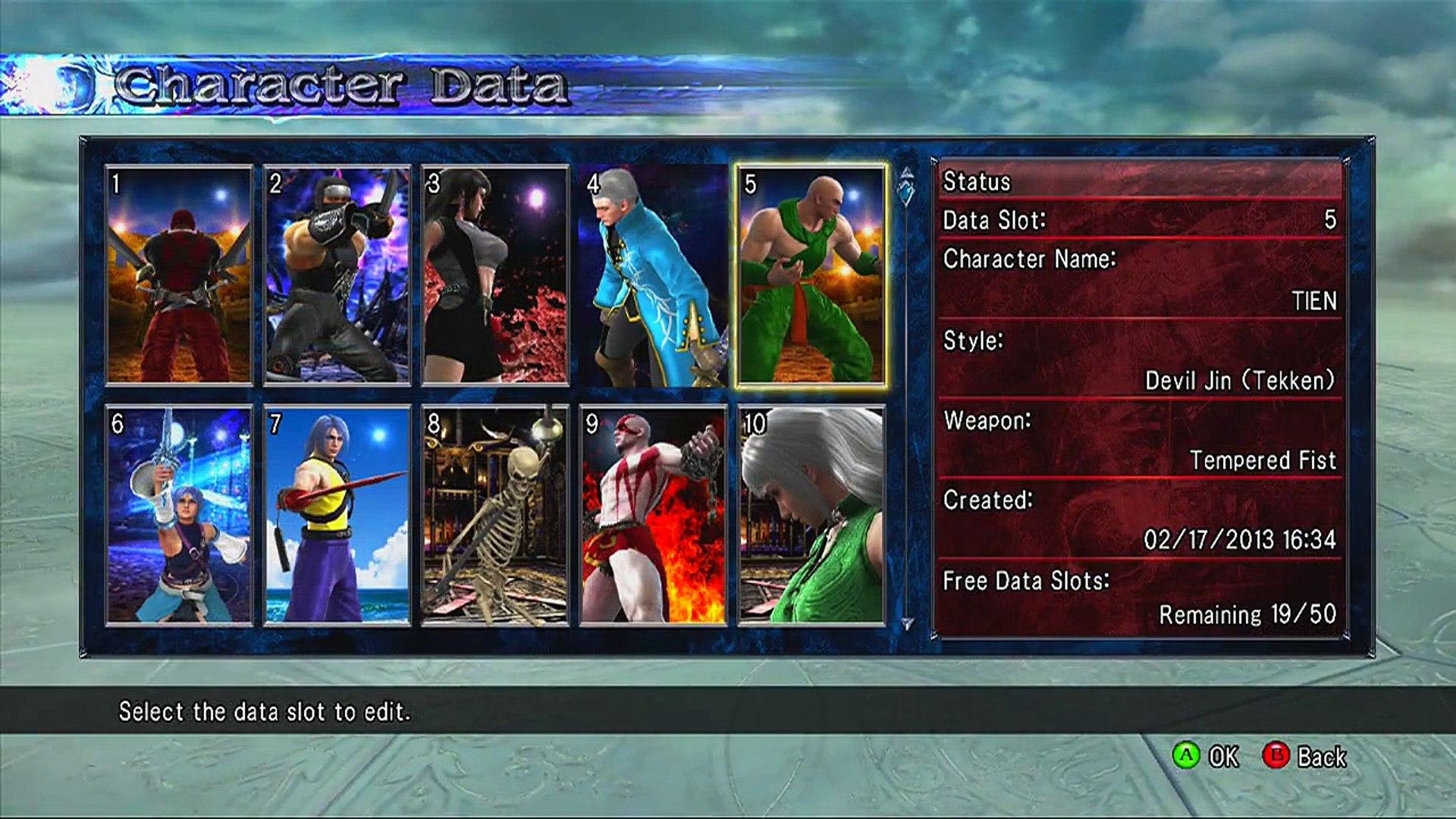 Soul Calibur V 50 Character Creation Showcase