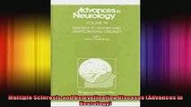 Multiple Sclerosis and Demyelinating Diseases Advances in Neurology