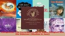 PDF Download  Ellingtonia The Recorded Music of Duke Ellington and His Sidemen Studies in Jazz PDF Online