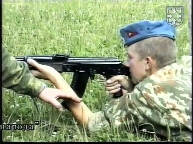 Стрельба из боевого оружия. Изготовка лежа с использованием ремня АК .