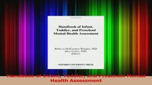 Handbook of Infant Toddler and Preschool Mental Health Assessment PDF