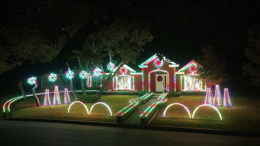 Christmas Light Show (4K)