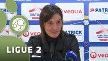 Conférence de presse Clermont Foot - Stade Lavallois (4-1) : Corinne DIACRE (CF63) - Denis ZANKO (LAVAL) - 2015/2016