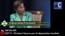 COP 21 : Christiana Figueres pour la dépopulation mondiale