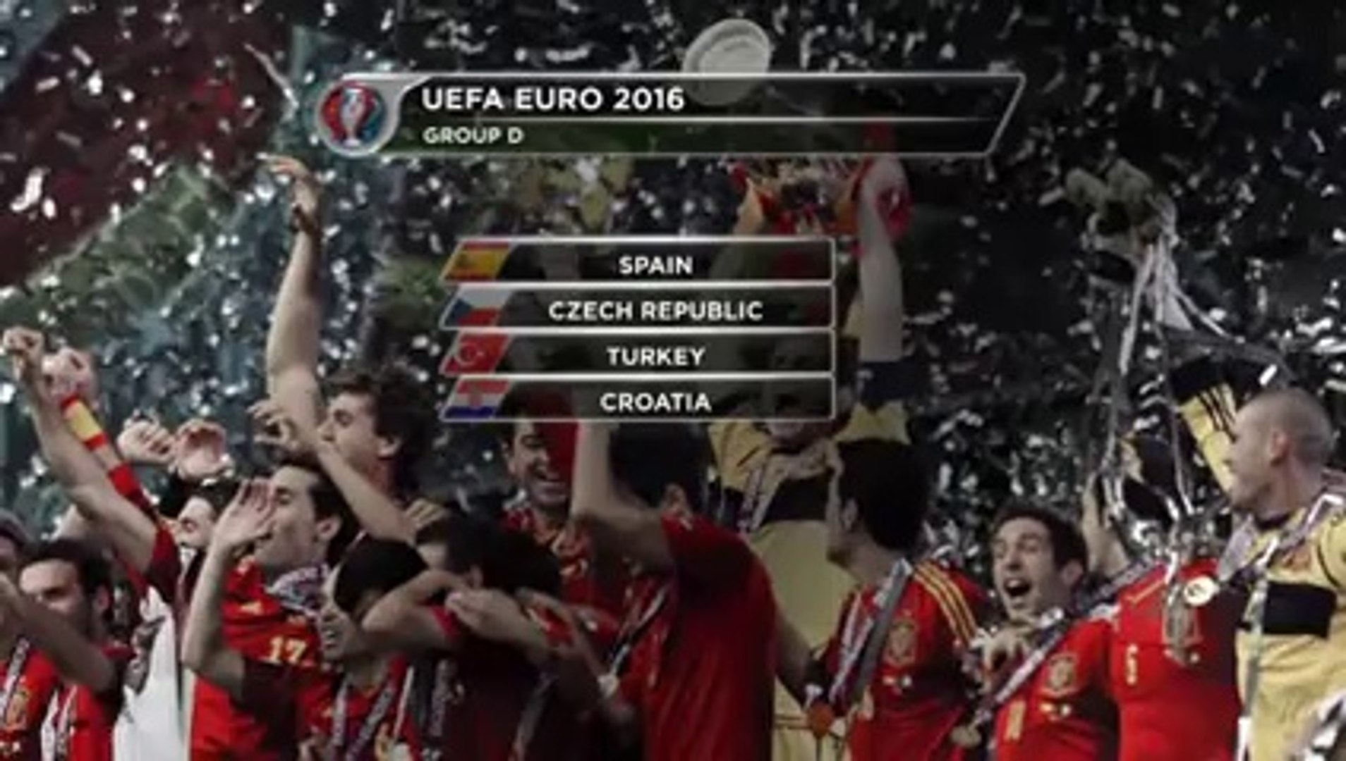 Euro 2016 Group Stage Draw- Spain get tricky draw