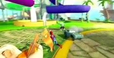 HULK SMASH Mcqueen Cars Playtime BIG Water Slide Spiderman & POOL Playtime Toy BOX for Kids!