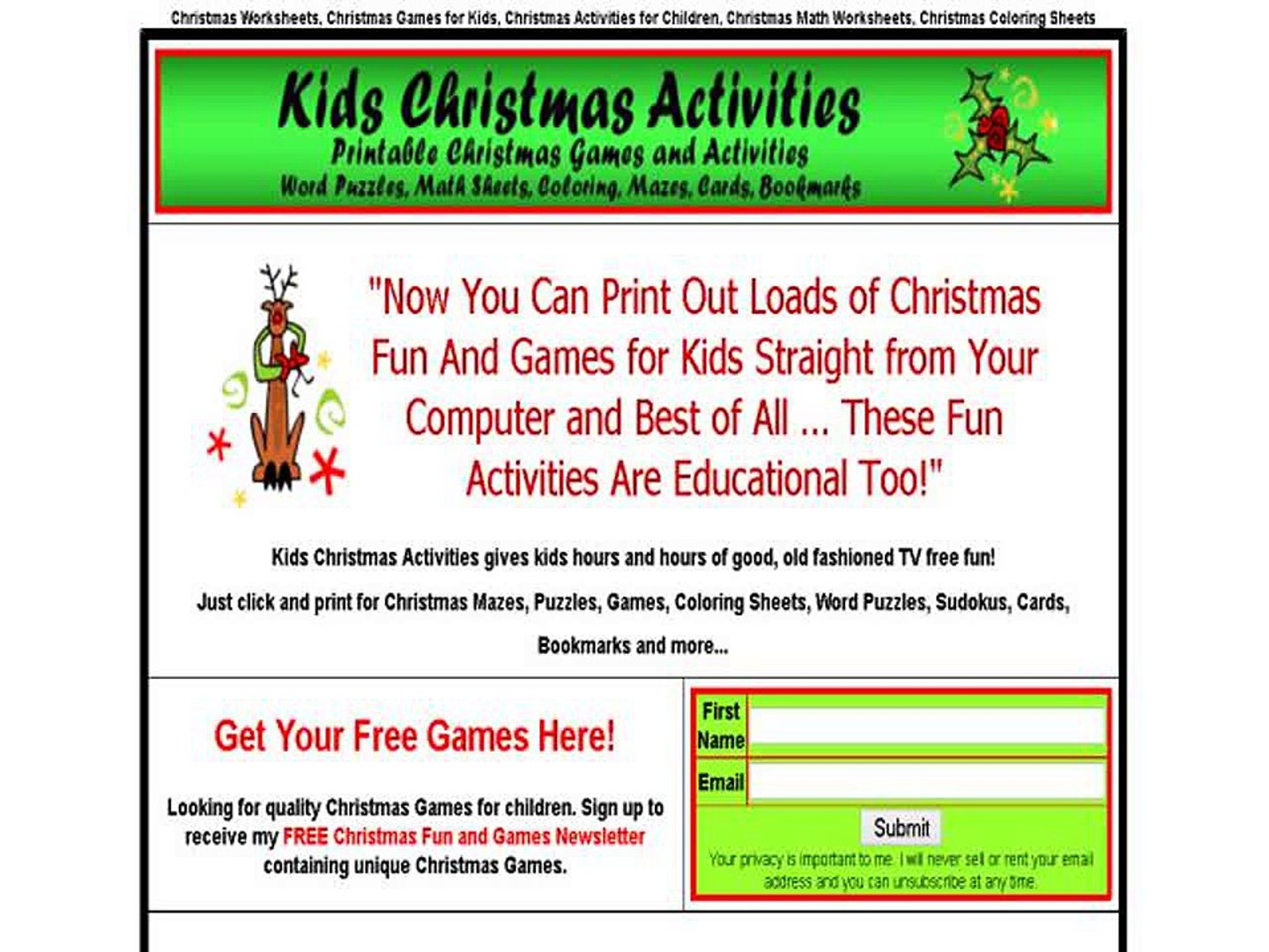 picture about Free Printable Christmas Games and Puzzles for Adults identified as Youngsters Xmas Functions And Online games