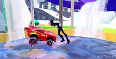 Nursery Rhymes Disney Pixar Cars Black Spiderman & Lightning McQueen (Songs for Children w/ Action)
