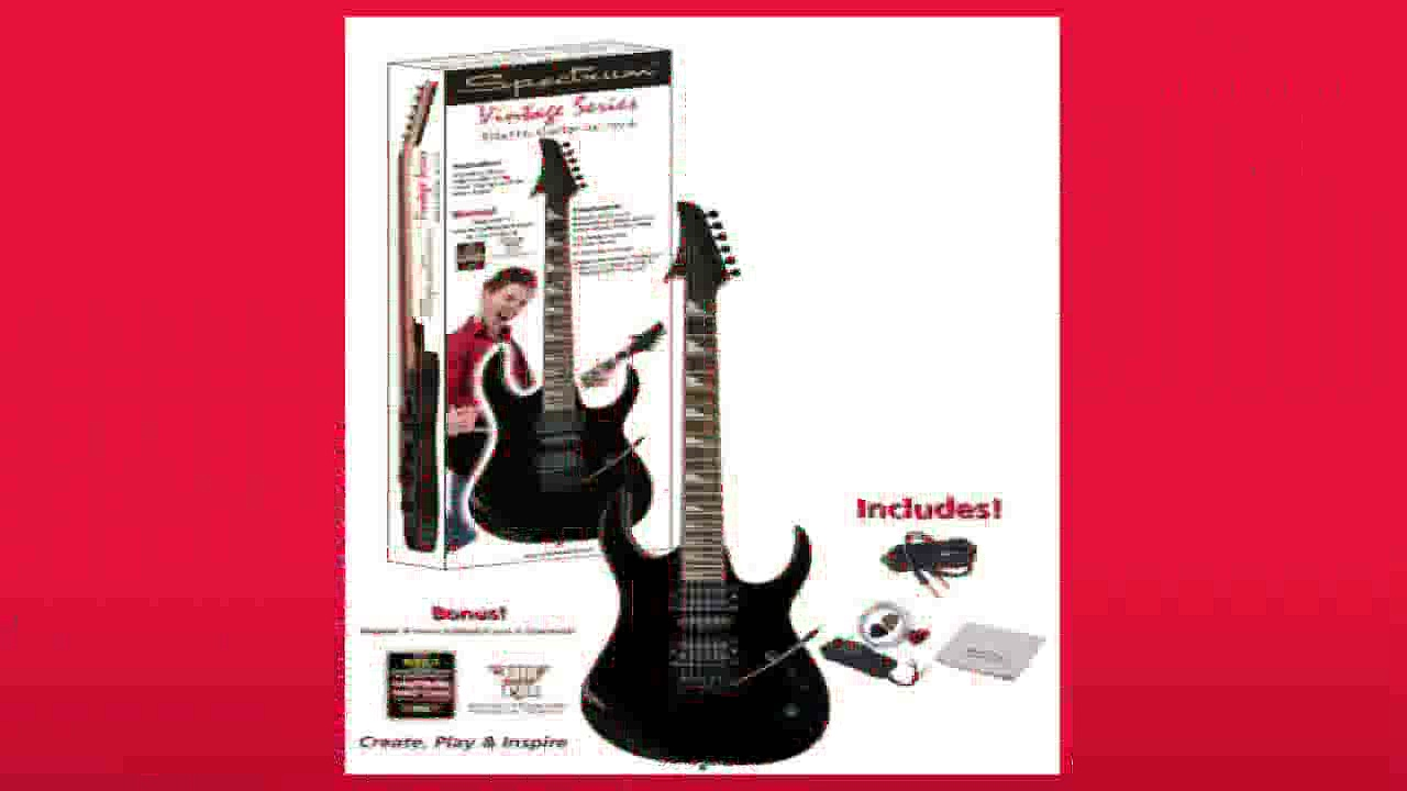 Best buy Electric Guitar  Spectrum AIL 75VB Vintage Series Shark Style Electric Guitar Pack Black